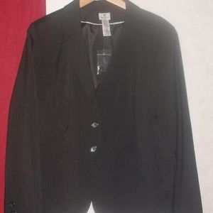Black Pinstripe Blazer Suit Jacket Plus 22W